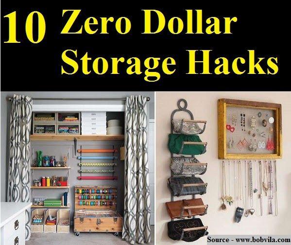 10 Zero Dollar Storage Hacks Home And Life Tips 7 Diy ...