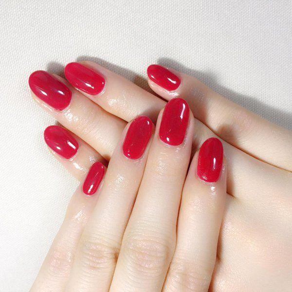 「ワンカラーのシンプルなジェルネイルでいい女♡」に含まれるツイート画像