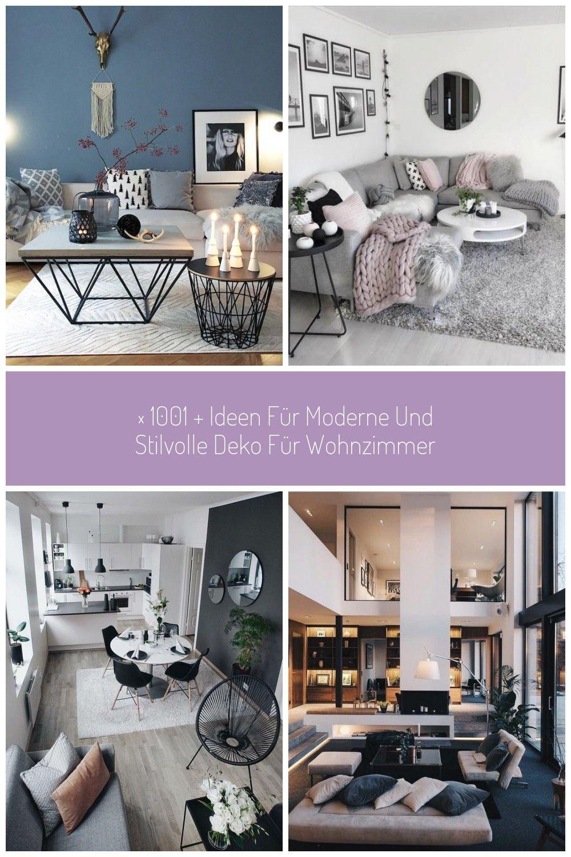 Dekoartikel Wohnzimmer Blaue Wand Runder Und Eckiger Kaffeetisch