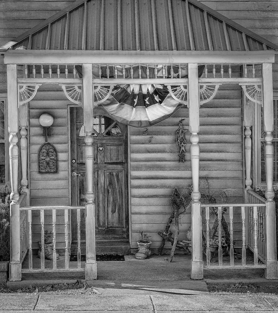 This Quaint Front Porch Scene In New Melle Missouri