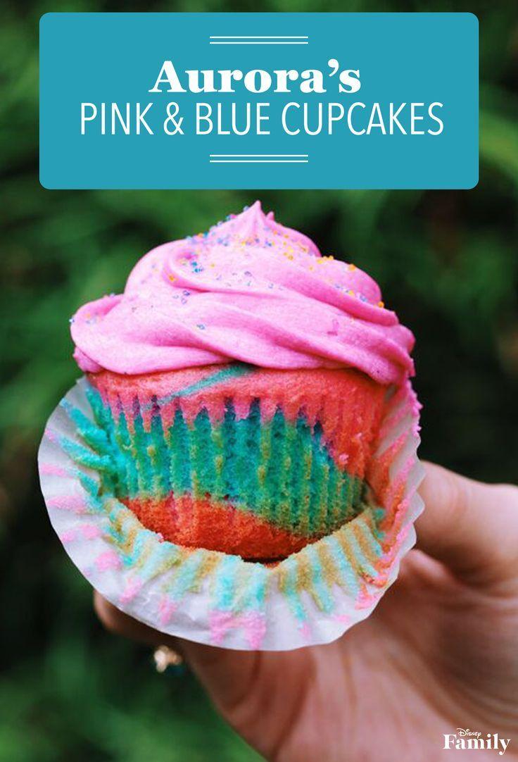 Aurora\'s Blue and Pink Cupcakes | Receta