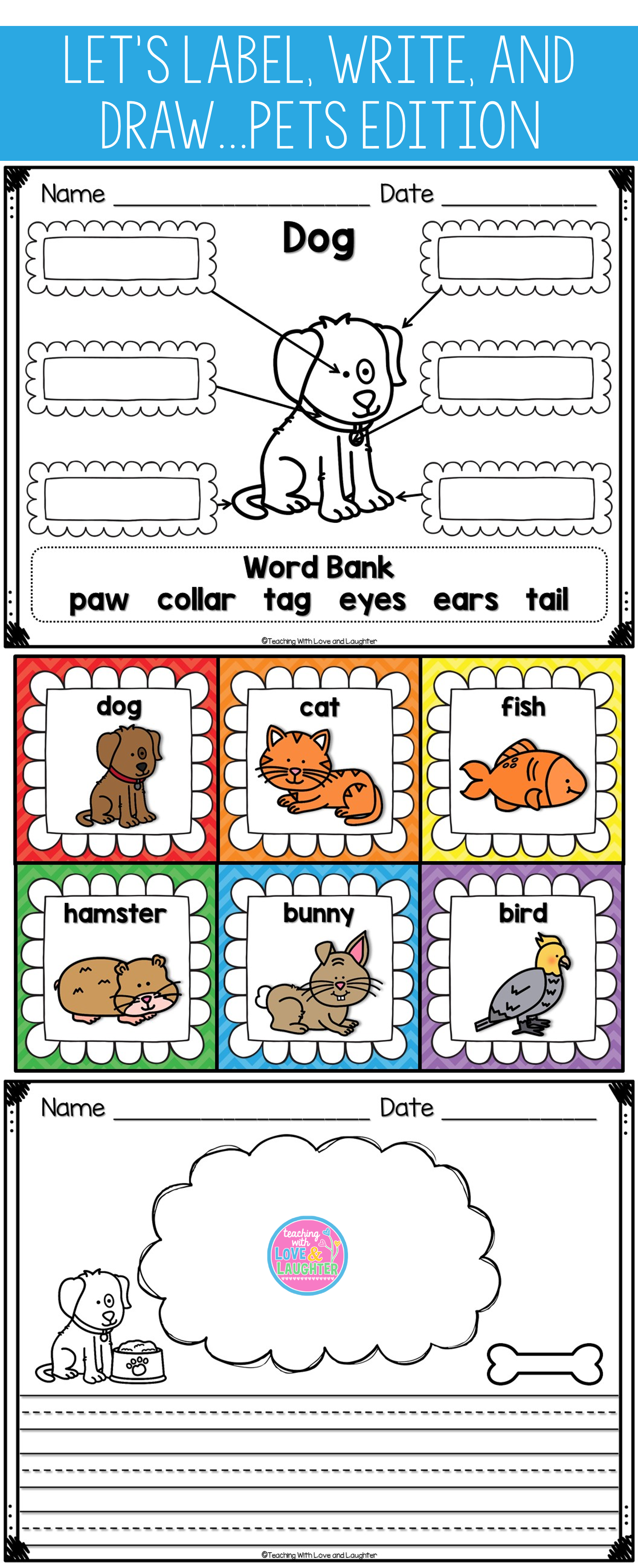 Let S Label Write And Draw About Pets