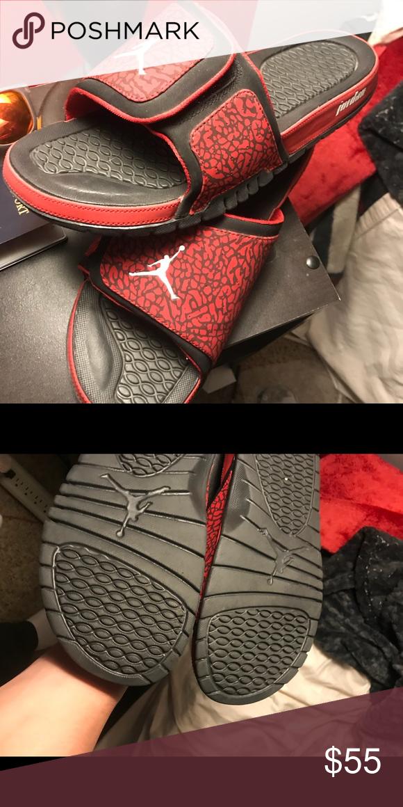 6e3df5176 Jordan Slides Worn Once size 13 fit 12 easy Jordan Shoes Sandals    Flip-Flops