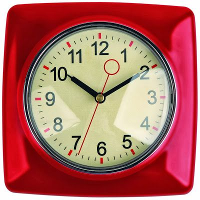 Red Retro Kitchen Wall Clock Retro Kitchen Clocks Kitchen Wall
