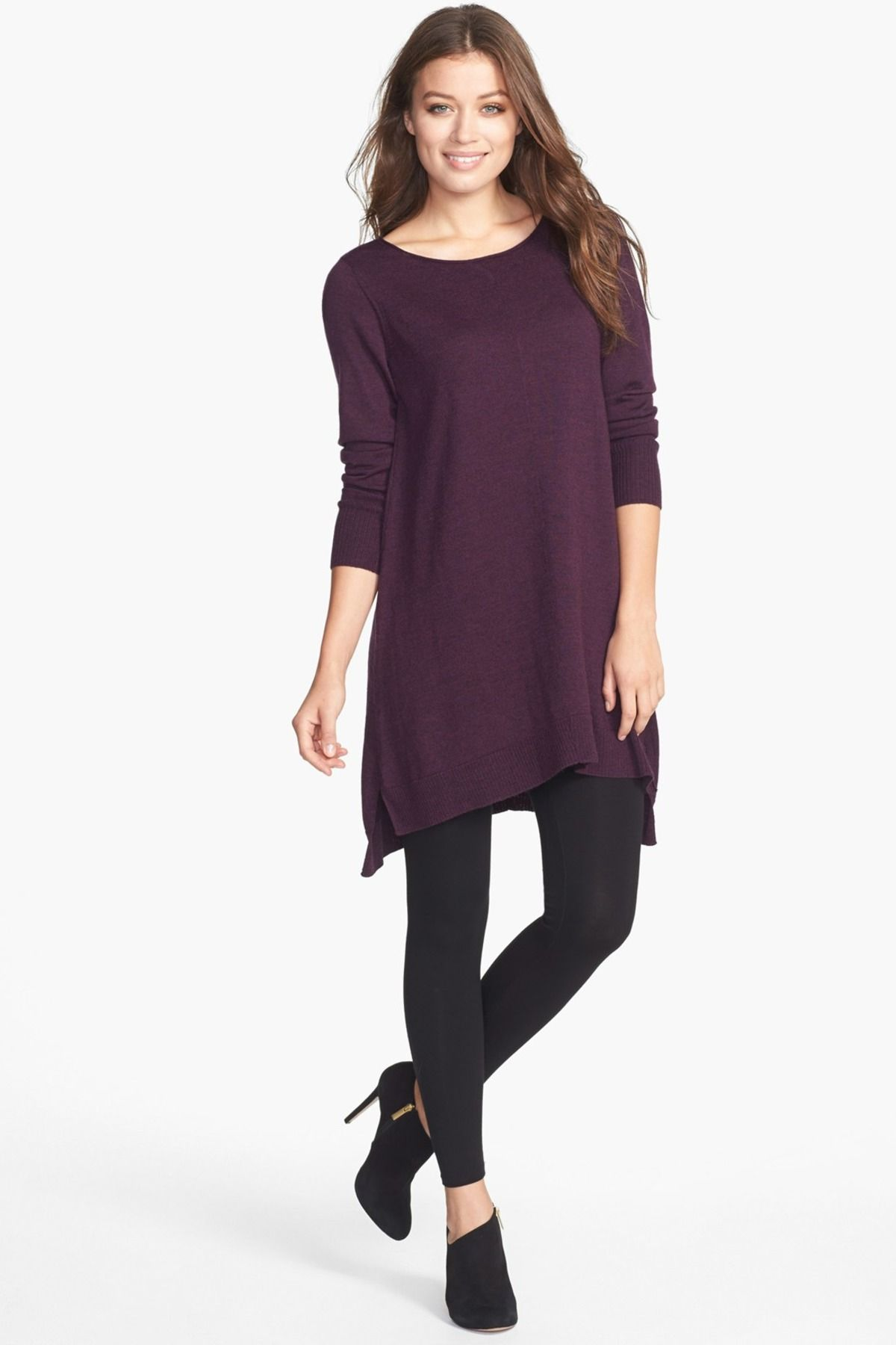cashmere neck rack by nordstrom ballet pin eileen fisher sweater and tunic on