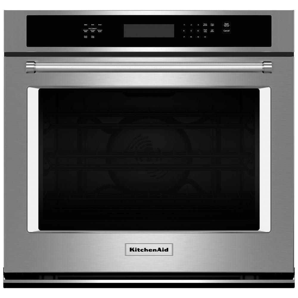 Kitchenaid 30 stainless steel single wall oven kose500ess