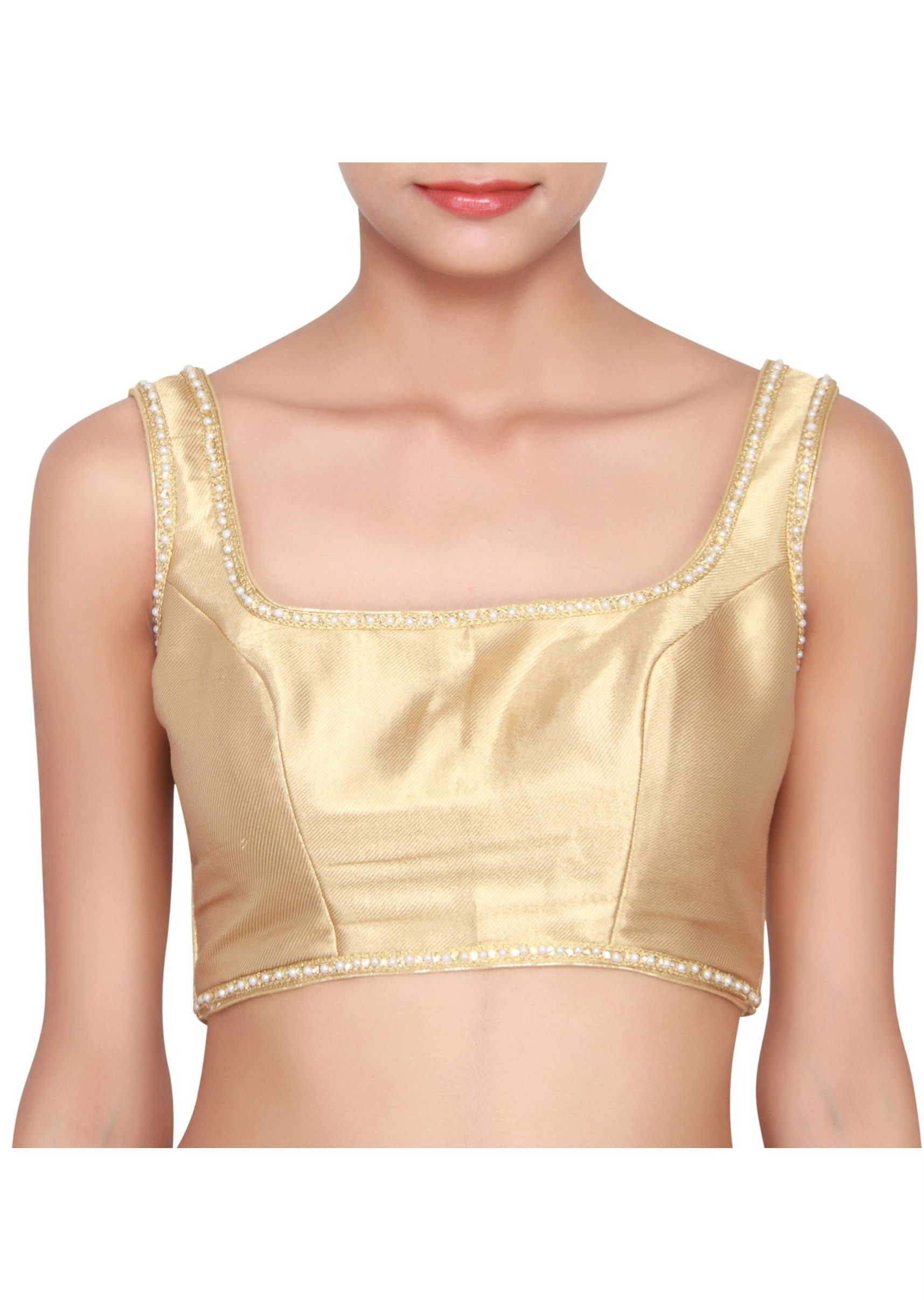 Gold Sleeveless Blouse