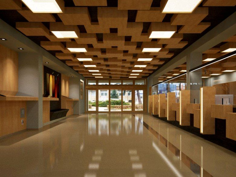 Architect office interior design post office interior for Architecture interior design