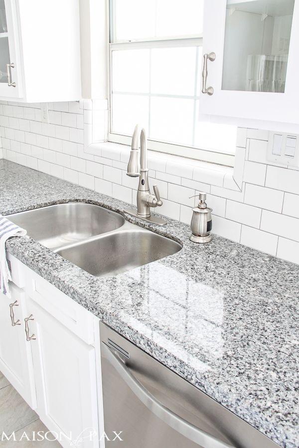 Source List For Classic White Kitchen. Grey Granite CountertopsKitchen ...