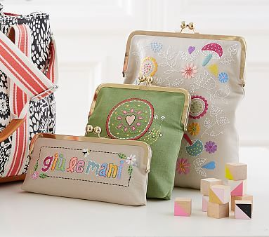 Margherita Missoni Embroidered Pouches #pbkids