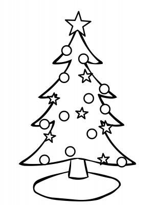 Christmas Coloring Page Christmas Tree Coloring Page Christmas Tree Drawing Tree Coloring Page