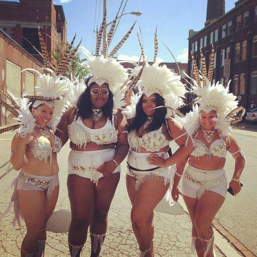 Plus size Masqueraders at this years Toronto Caribana