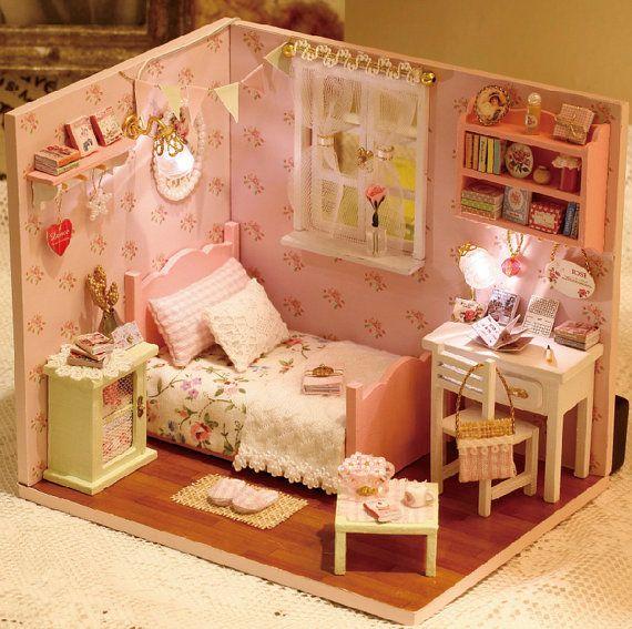 DIY Miniature Bedroom Miniature House Handcraft Kit Birthday Gifts - bricolage a la maison
