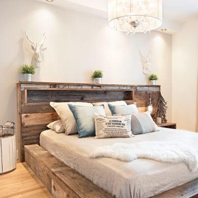 Chambre rustique tout confort | Design | Chambre rustique, Déco ...