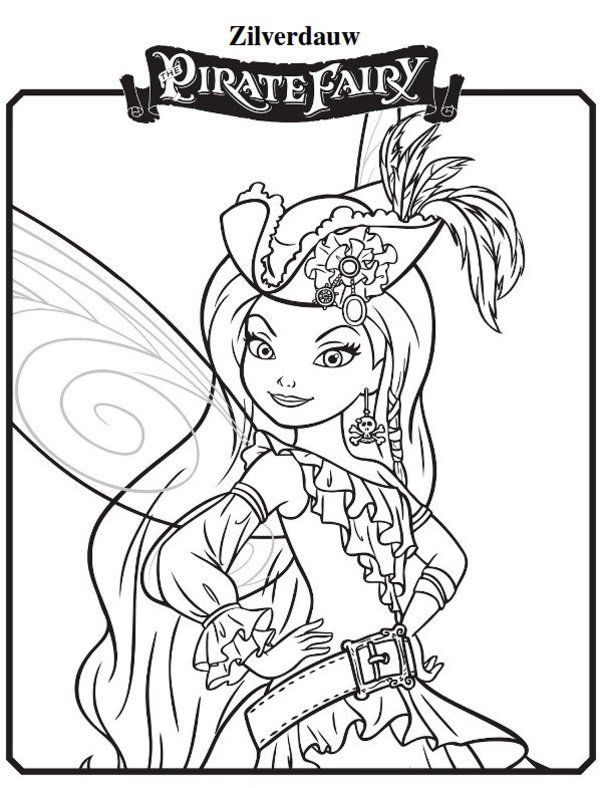 Zilverdauw  New Tinkerbell  Pirate Fairy Coloring Pages