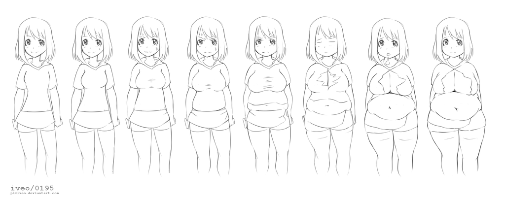 Female Weight Gain Animation