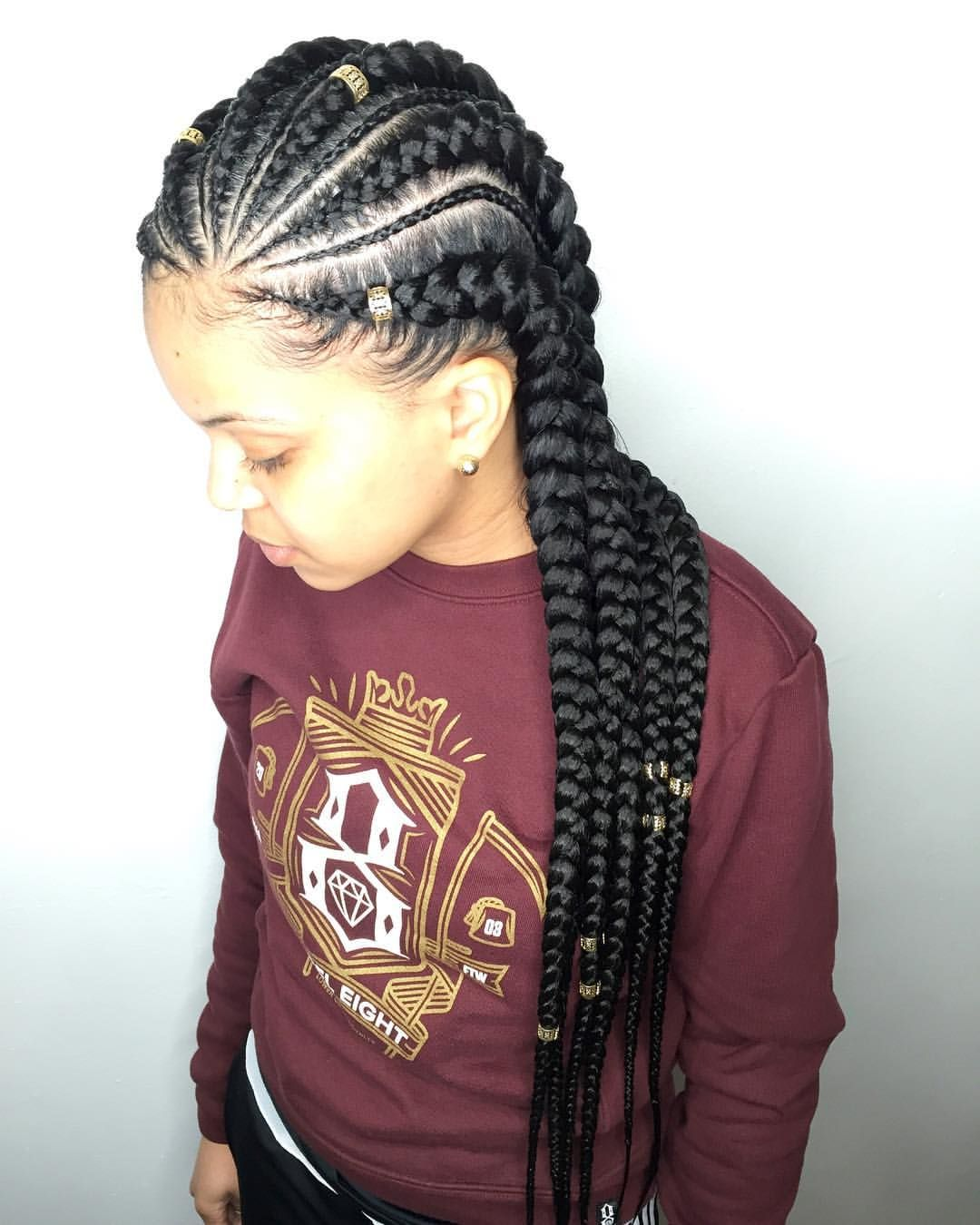 142 Likes, 3 Comments   Salon Ramsey (@qthebraider) On Instagram: U201cFeed In  Cornrows + Minis + Hair Jewelry Want This Look? ❌DO NOT WAIT UNTIL THE LAST  ...