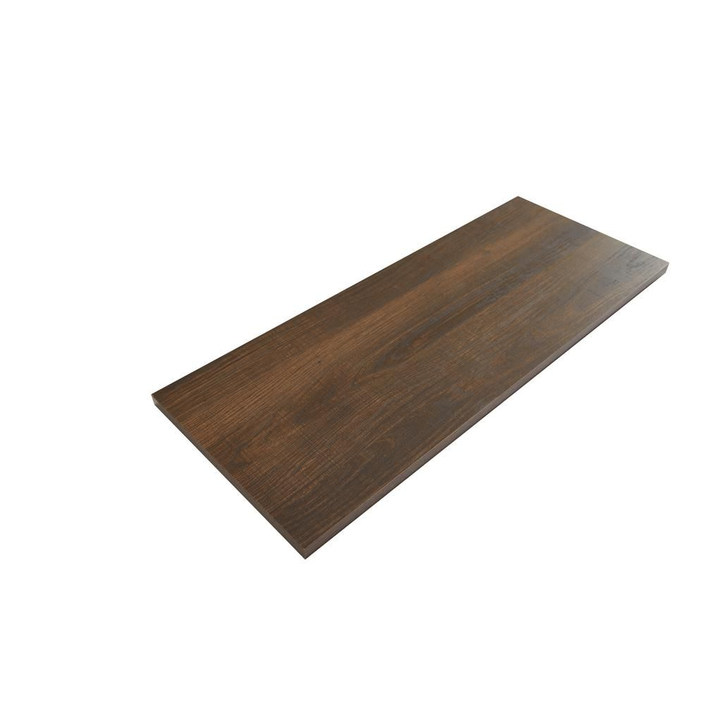 Rubbermaid 10 In X 24 In Chestnut Laminated Wood Shelf 2110655 The Home Depot In 2020 Wood Shelves Wood Laminate Wood
