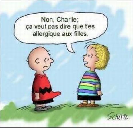 Humour Charlie Brown: Allergie coquine   humour français   Humour, Humour francais et Trucs drôles