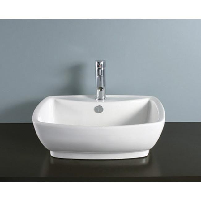 Kingston White China Vessel Bathroom Sink W Overflow Hole Faucet Hole Ev8145 Bathroom Sink Kingston Brass Sink