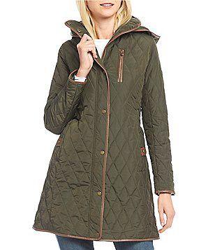 Lauren Ralph Lauren Faux Leather Trim Quilted Jacket Womens Quilted Jacket Ralph Lauren Womens Clothing Coats For Women