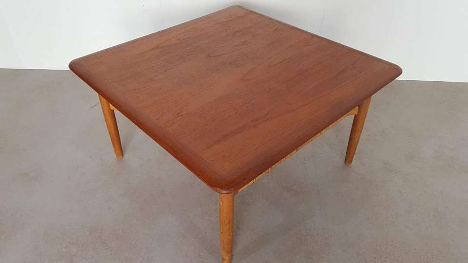 Teak Square Coffee Table By Johannes Andersen Denmark 1960s Coffee Table Coffee Table Square Dining Room Chairs Modern