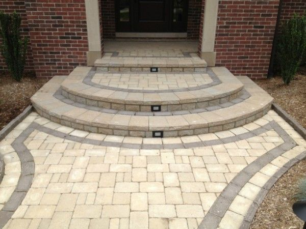 House entrance steps design for shake homes brick step for Brick steps design ideas