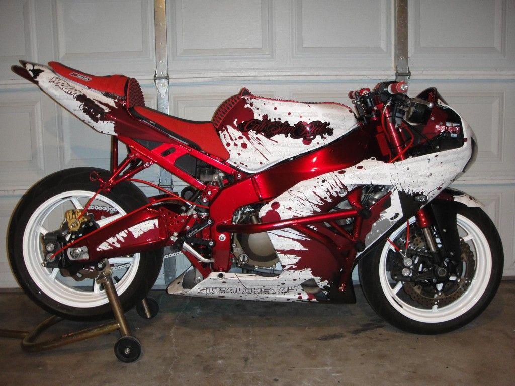 Red Metallic Vinyl Wrap on a Sportbike | motorcycles | Sport