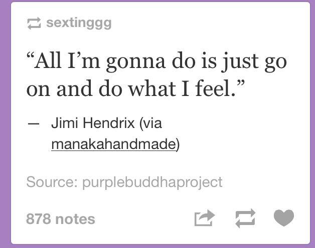 All I'm gonna do..