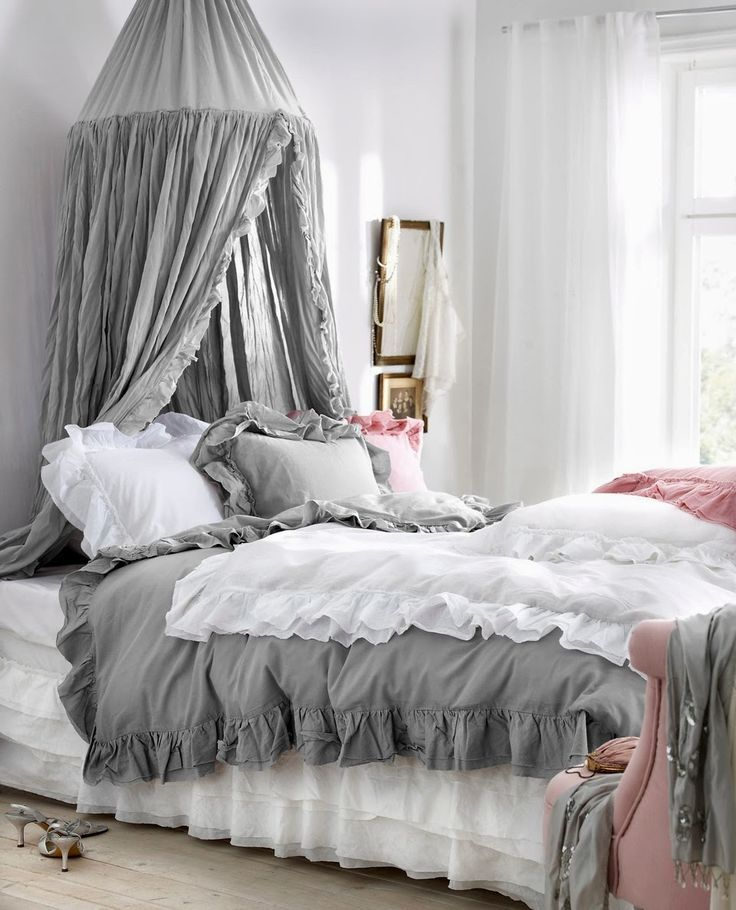 Beautiful Shabby Pink And Gray | ZsaZsa Bellagio   Like No Other. Shabby Chic BedroomsRomantic  ...