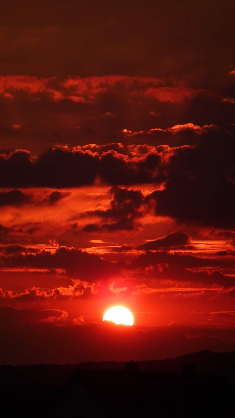 Red Sky Red Sunset Red Sky Galaxy Wallpaper
