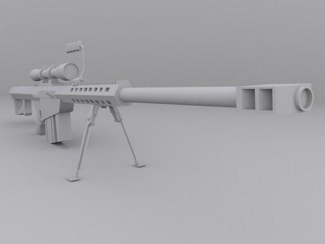3D Model Barrett M82 c4d, obj, 3ds, fbx, ma, lwo 53194