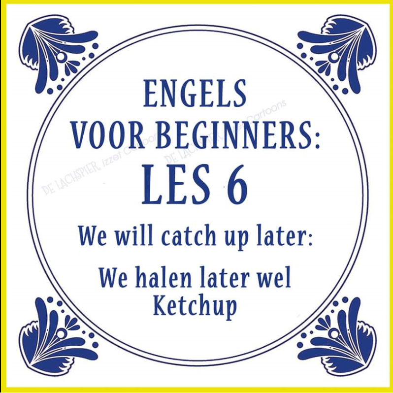 Grappige Citaten Engels : We ll get the ketchup later engels voor beginners
