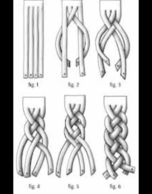 4 strand braid  cute  follow steps