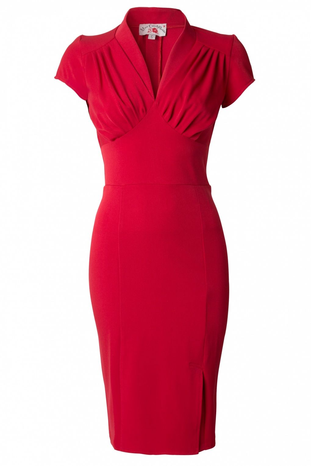 Rode Pencil Jurk.50s Mavis Red Pencil Dress Model Jurken Vintage Jurken En Jurkjes