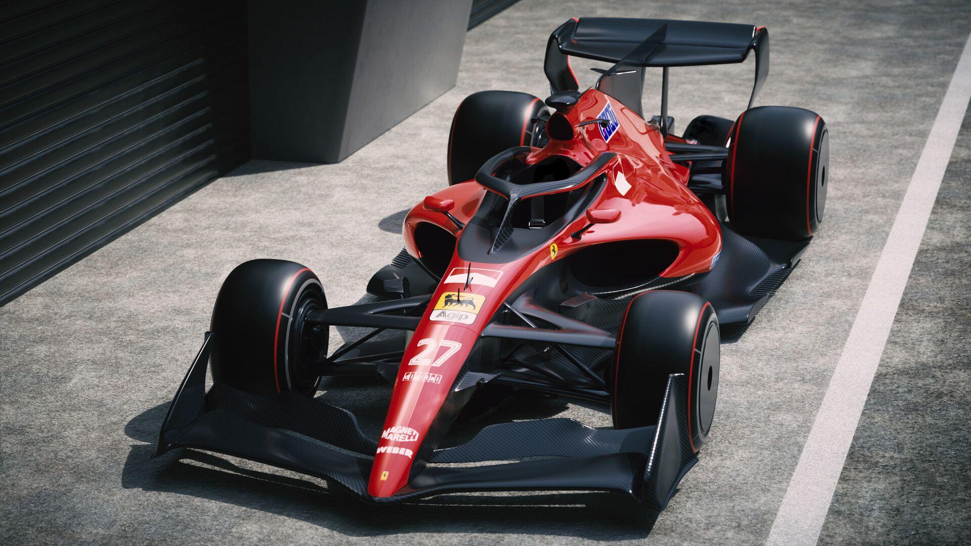 Ferrari F1 2021 Retro By Volodymyr Borovkovretro Futuristic Ferrari Formula 1 Car Inspired By F1 2021 Concept An Ferrari F12berlinetta Ferrari F1 Formula 1 Car