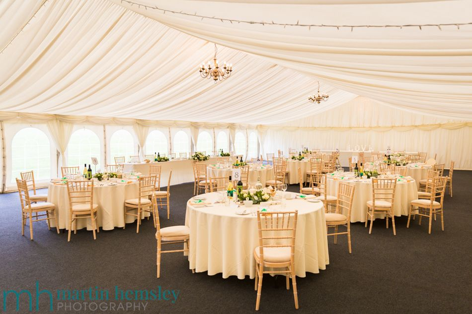 Inside Wethele Manors Marquee Near Leamington Spa In Warwickshire Photography By Martin Hemsley