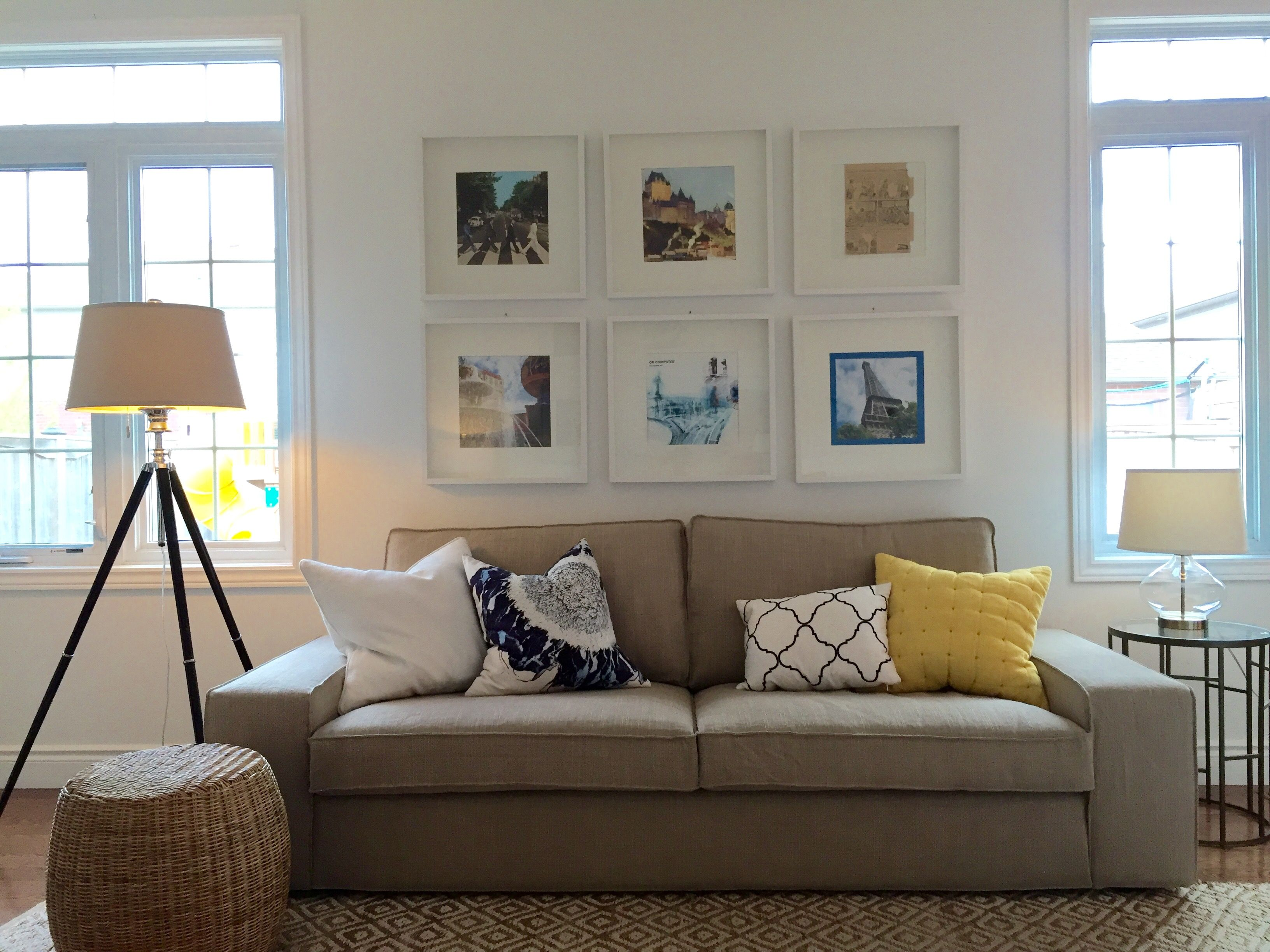Kivik sofa  Beige living rooms, Living dining room, Home living room