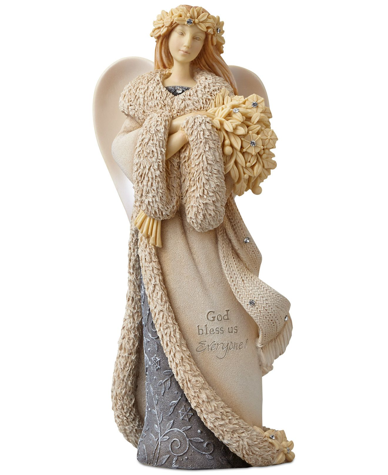 Foundation Angel with Holly Collectible Figurine Holiday