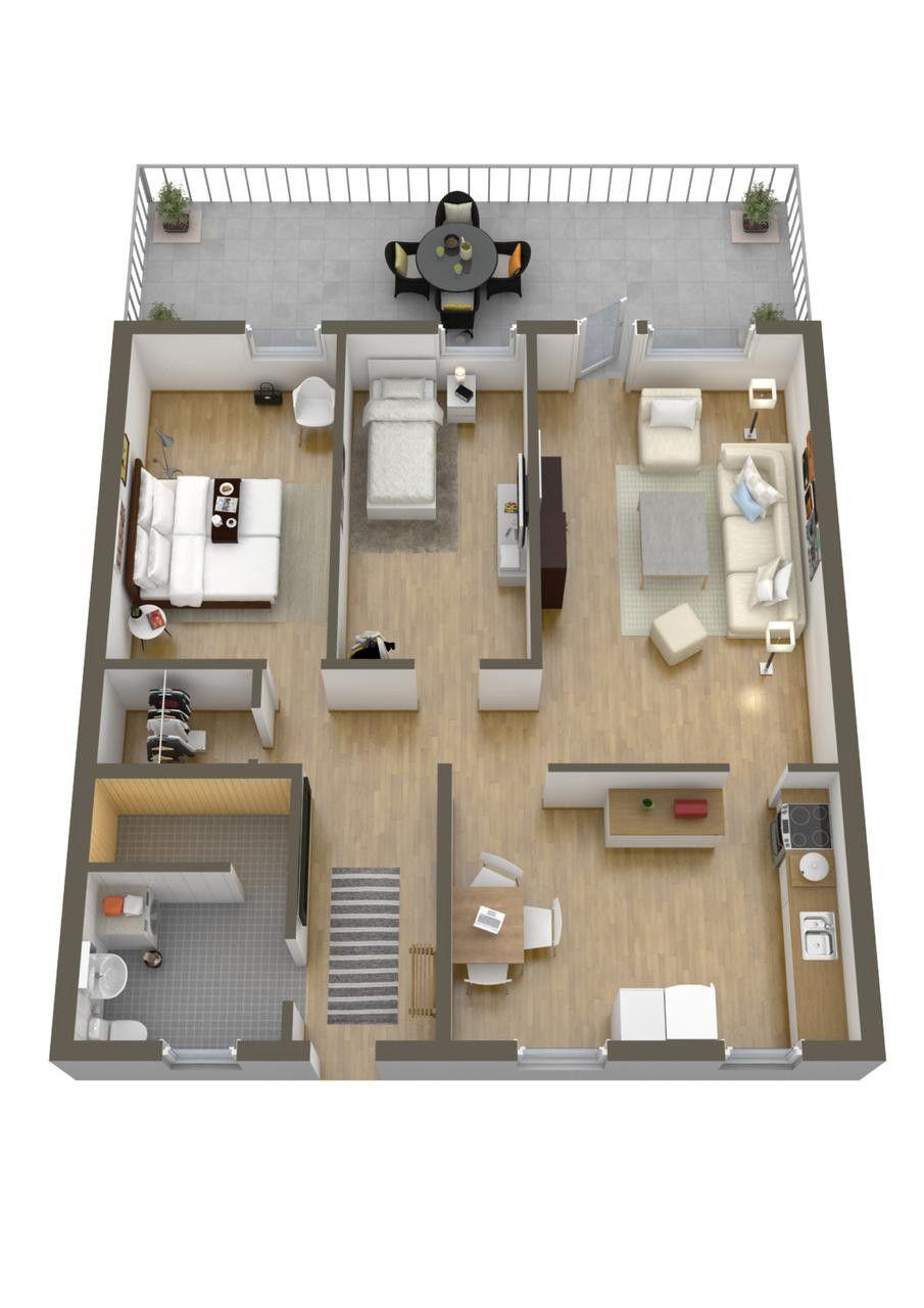 Two Bedroom House Design 2021 Denah Lantai Rumah Tata Letak Rumah Rumah Modern