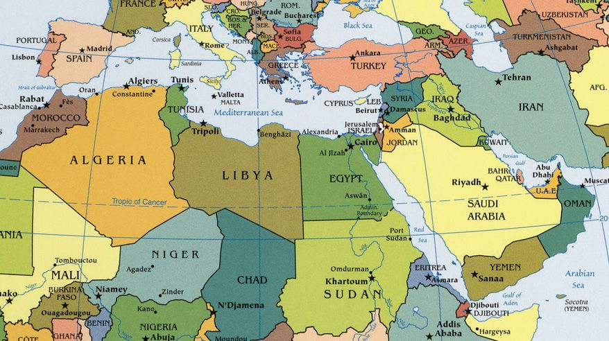 North Africa Map Maps Pinterest Africa Map North - North africa physical map