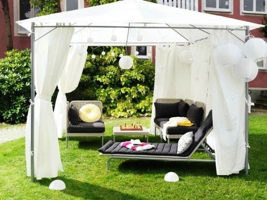 Patio Screen Cute Patio Tent Gazebo Canopy With White Canvas Roof Covers  Also A Pair Of
