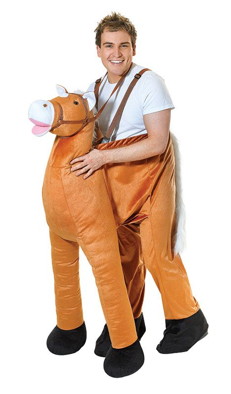 WILD WESTERN HORSE CARRY ME MASCOT FANCY DRESS COSTUME