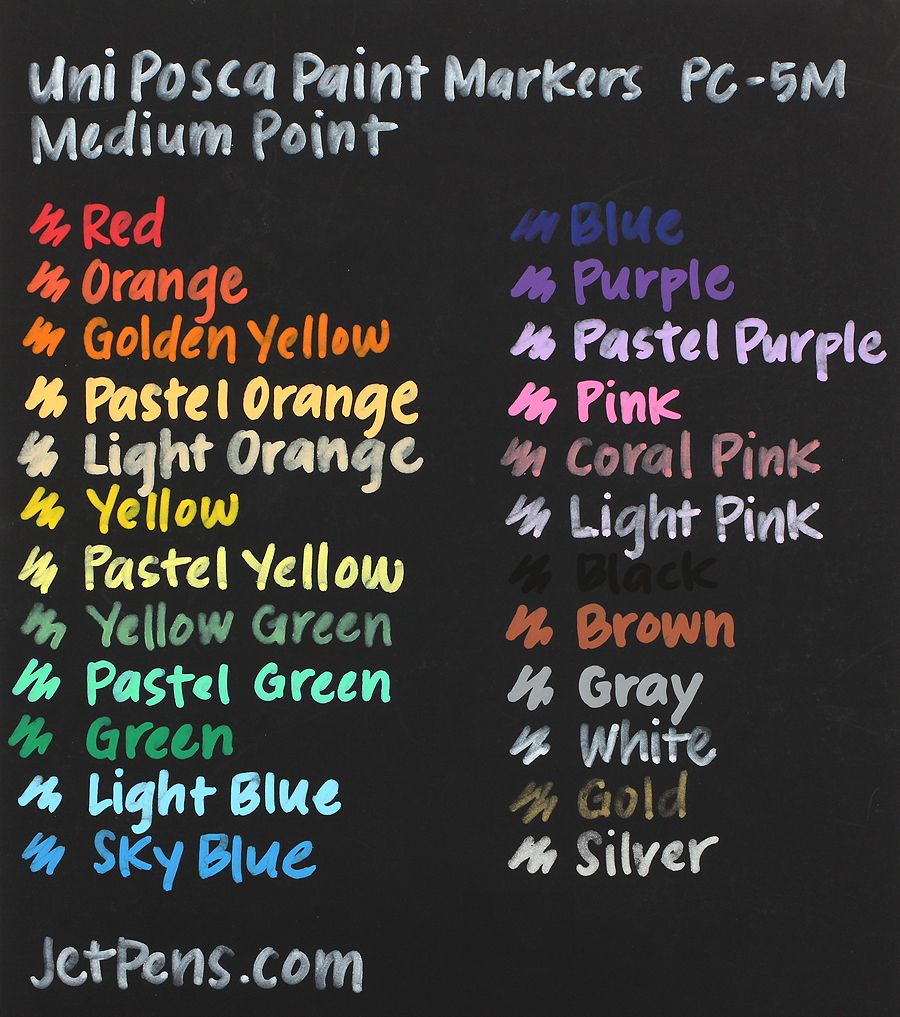 Markers that write on black paper