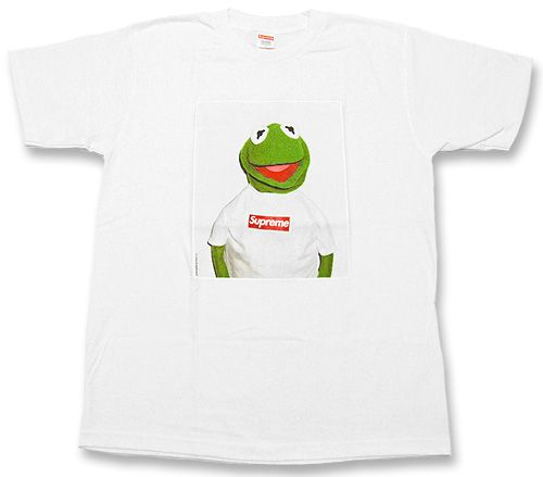 d4f467727832 Supreme, Kermit the Frog Tee (White) | Streetwear and High Fashion ...