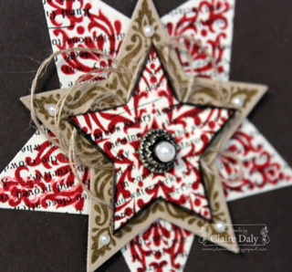 Stampin' Up! Handmade DIY Bright and Beautiful Christmas Card and Decoration. By Claire Daly Stampin Up Australia