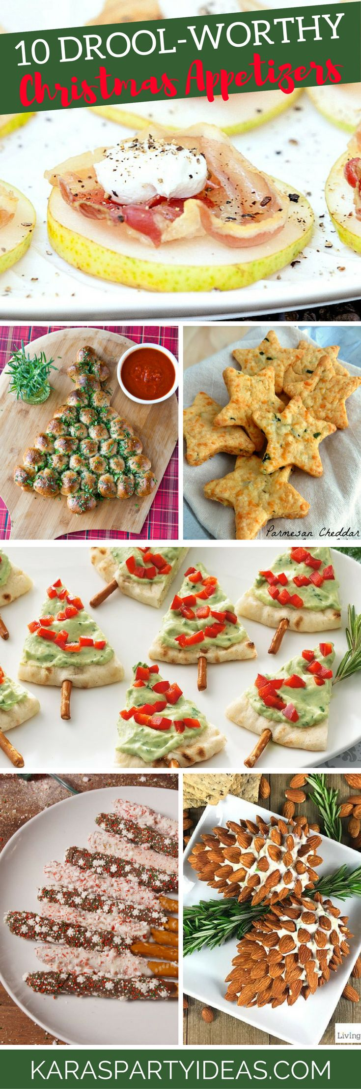10 drool worthy christmas appetizers via karas party ideas karaspartyideascom - Pinterest Christmas Appetizers