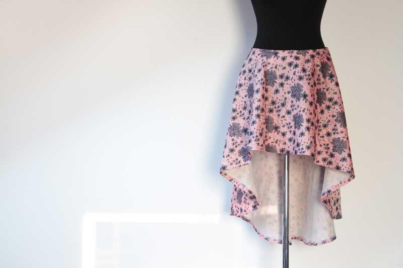 a4caf583dba8 Střih a fotonávod na dámskou asymetrickou sukni