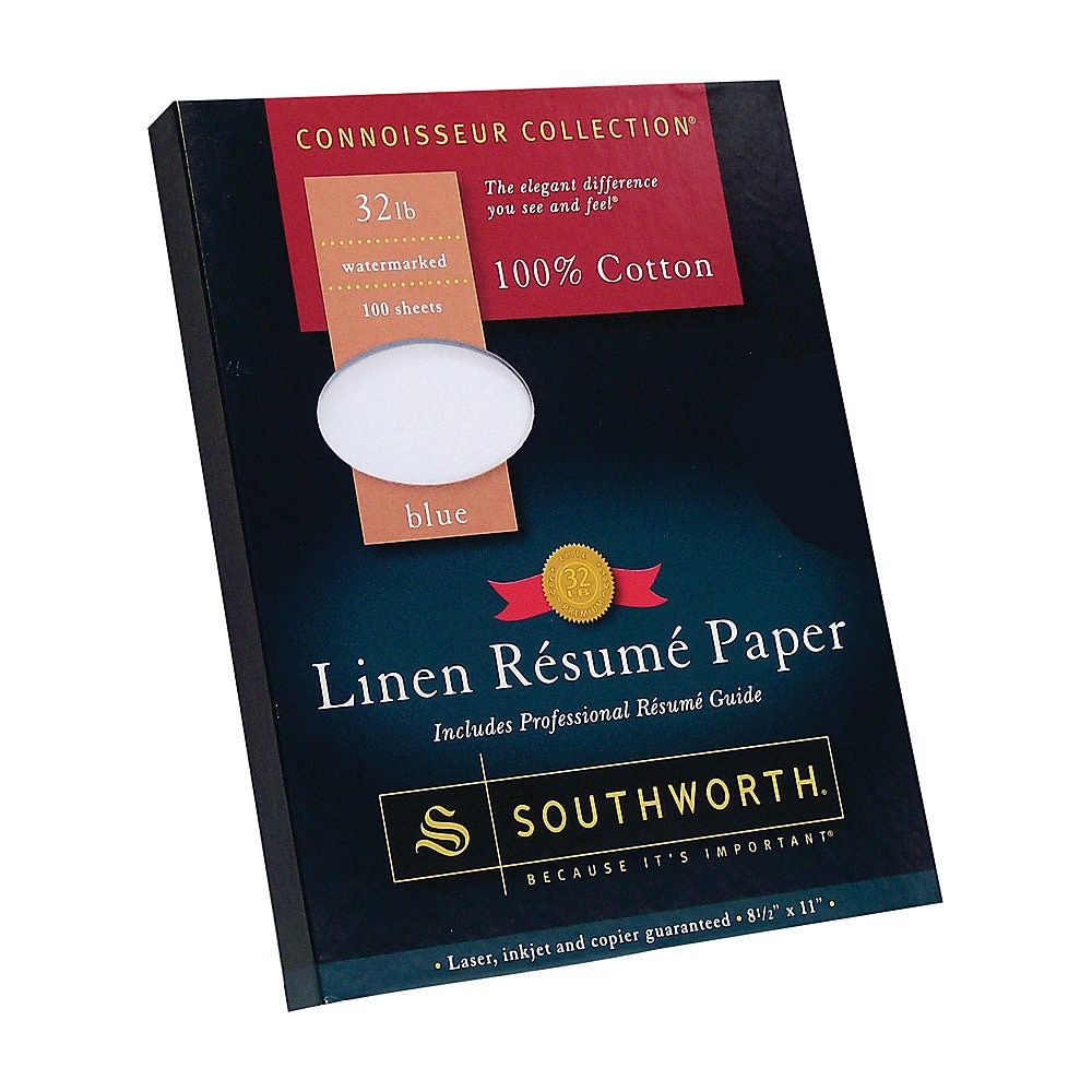 Southworth 100 Cotton Resume Paper 8 1 2 X 11 32 Lb 100