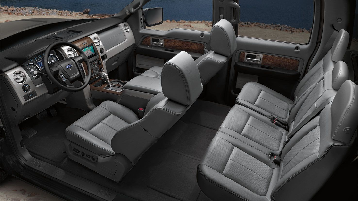 2014 ford f150 black lariat interior